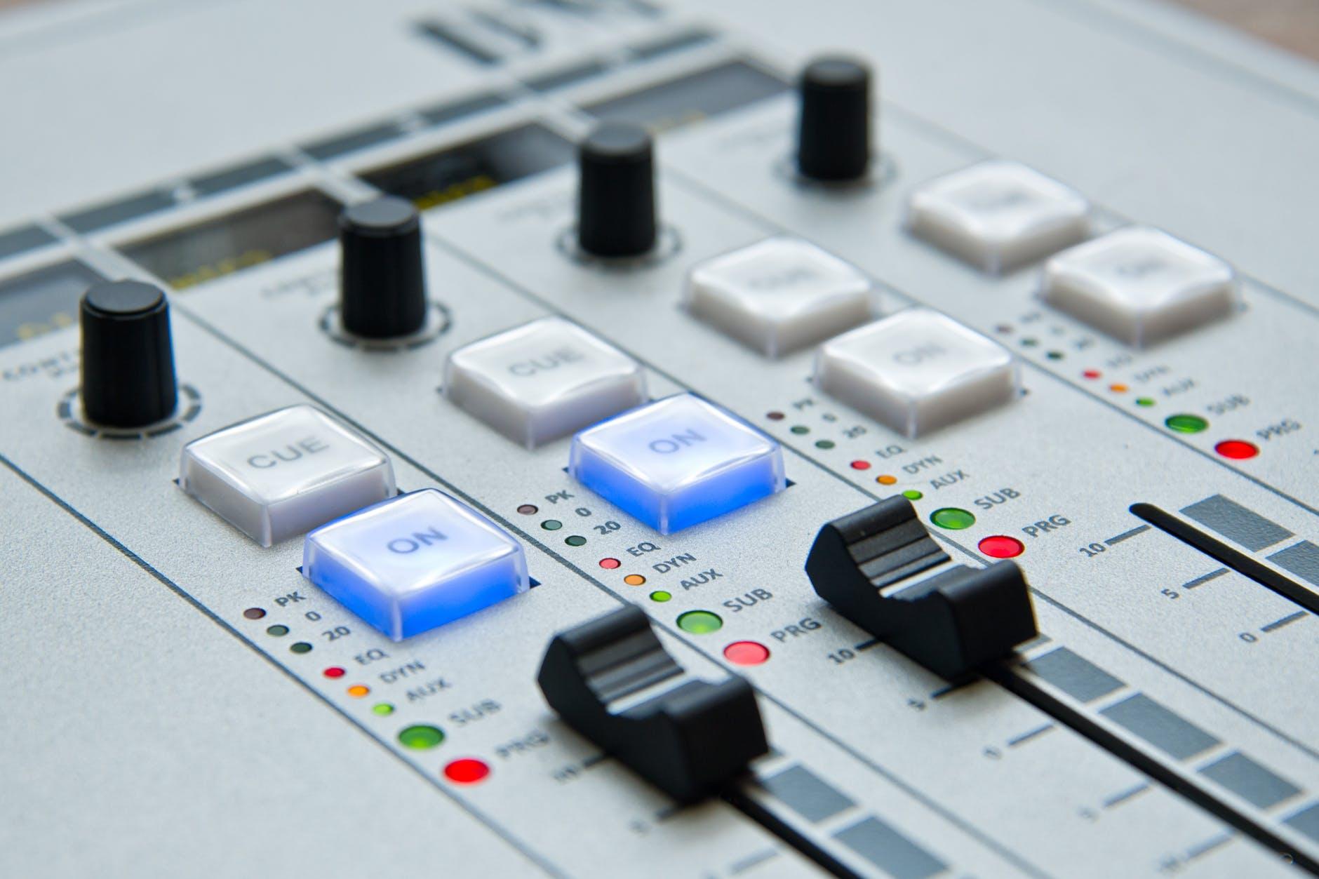 white and black music mixer